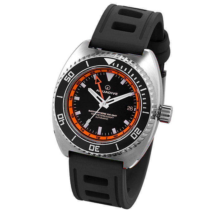 DIVE-WATCH-BATHYSCAPHE-100-GMT-ORANGE-BLACK