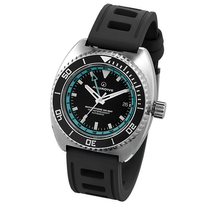 DIVE-WATCH-BATHYSCAPHE-100-GMT-TURQUOISE-BLACK