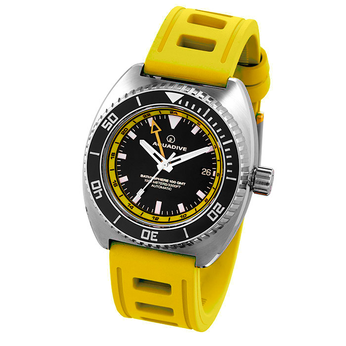 DIVE-WATCH-BATHYSCAPHE-100-GMT-YELLOW-YELLOW
