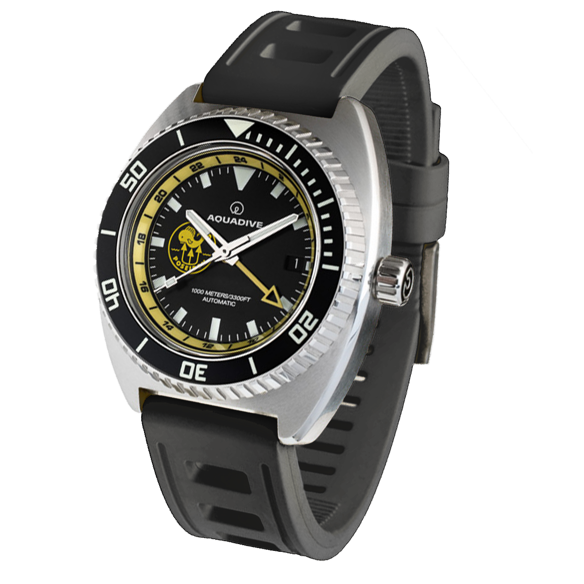 The Poseidon from Aquadive with a black strap